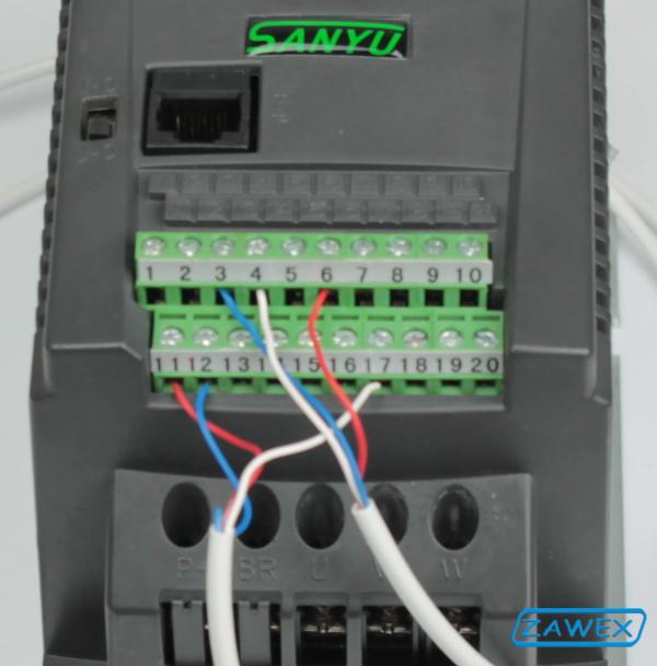 Falowniki SANYU SY6600 - komunikacja MODBUS
